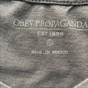 Obey Shirts - Obey charcoal grey ultra soft tee - Small